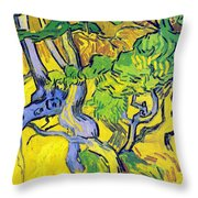 Tree Roots And Tree Trunks Throw Pillow by Vincent Van Gogh