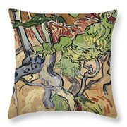 Tree Roots Throw Pillow by Vincent Van Gogh