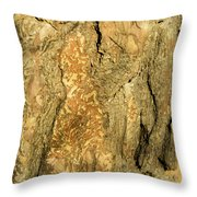 Tree Self Reflections In Bark Throw Pillow