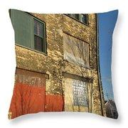 Tree Shadow On Brick 4 Throw Pillow