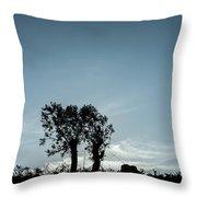 Tree Silhouette II Throw Pillow