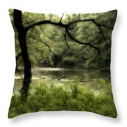 Tree Silhouette Throw Pillow