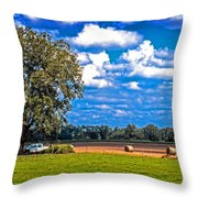 Tree Stands Alone- Vibrant Colors Throw Pillow