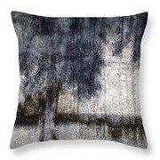 Tree Through Sheer Curtains Throw Pillow