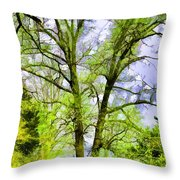 Tree Tops Iv Throw Pillow