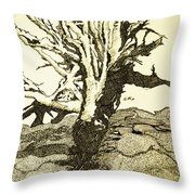 Tree Trunk By The Sea Throw Pillow
