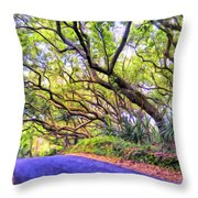 Tree Tunnel On The Big Island Throw Pillow