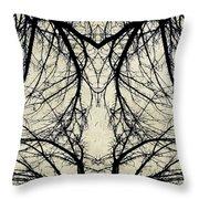 Tree Veins Throw Pillow