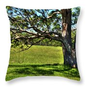 Tree With A Swing Throw Pillow