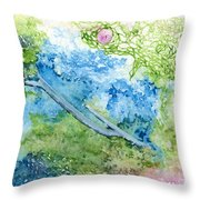 Tree With Rose Throw Pillow