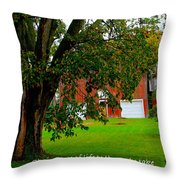 Tree With Scripture Throw Pillow