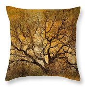 Tree Without Shade Throw Pillow