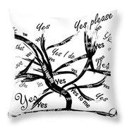 Tree Yes Tree Throw Pillow