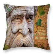 Treebeard Throw Pillow