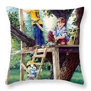 Treehouse Magic Throw Pillow