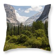 Trees - Forests - Mountains  Throw Pillow