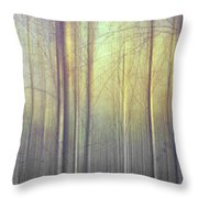 Trees Abstraction Throw Pillow