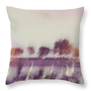 Trees Across The River Throw Pillow