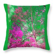 Trees Alive In Pink Throw Pillow