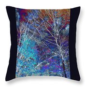 Trees Alive With Color Throw Pillow