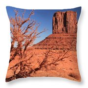 Trees And Mittens Throw Pillow