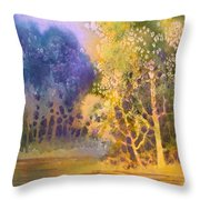 Trees And Water Throw Pillow