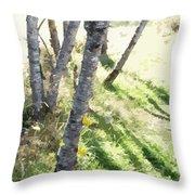 Trees At A Picnic Throw Pillow