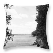 Trees At The Lakeside, Cave Point Throw Pillow