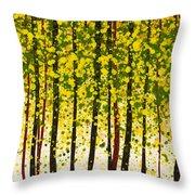 Trees At Twilight Xviii Throw Pillow