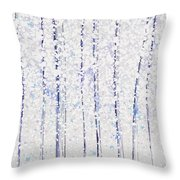 Trees At Twilight Xx Throw Pillow
