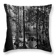 Trees Bw Throw Pillow