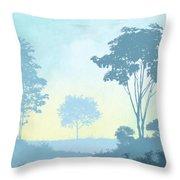 Trees Everywhere Throw Pillow