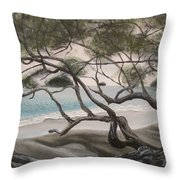 Trees In Costa Rica Throw Pillow