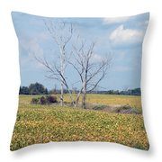 Trees In Field Throw Pillow