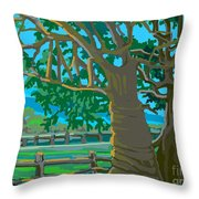 Trees In Love Throw Pillow