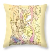 Trees In The Morning Throw Pillow
