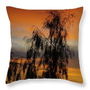 Trees In The Sunset Throw Pillow