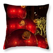 Trees Lights And Ornaments Throw Pillow