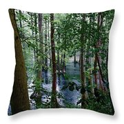 Trees Throw Pillow by Nelson Watkins
