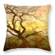 Trees Of Crows Throw Pillow