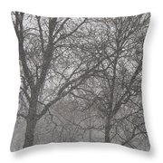 Trees Of Silence Throw Pillow