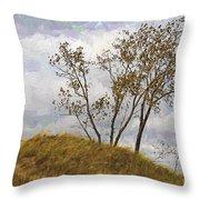 Trees Of The Beach Throw Pillow