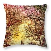 Trees Of The Four Seasons Throw Pillow
