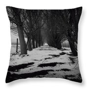 Trees Of The Ida Valley  Throw Pillow