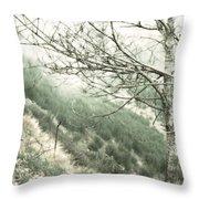 Trees On A Mountain Throw Pillow