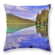 Trees Reflected At Valley Of The Five Lakes Throw Pillow