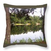 Trees Reflection Throw Pillow