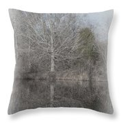 Tree's Reflection Throw Pillow