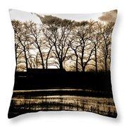 Trees Silhouettes Throw Pillow