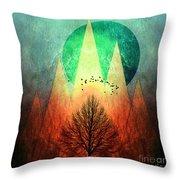 Trees Under Magic Mountains I I Throw Pillow